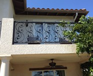 Balcony Railing 36 - by Isaac's Ironworks 818-982-1955