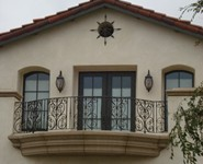 Balcony Railing 42 - by Isaac's Ironworks 818-982-1955