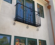Balcony Railing 50 - by Isaac's Ironworks 818-982-1955
