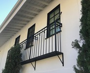 Balcony Railing 53 - by Isaac's Ironworks 818-982-1955