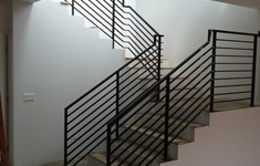 After Custom Interior Railing Fabrication and Installation