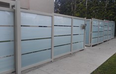 After Exterior Fence & Gates Conversion to Glass & Metal Fence and Gate