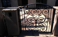 After Pedestrian Gate and Fence Fabrication and Installation