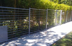 Before Exterior Fence & Gates Conversion to Glass & Metal Fence and Gate