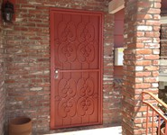 Custom Entrance Door 09 - by Isaac's Ironworks 818-982-1955