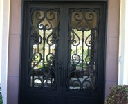 Custom Entrance Door 12 - by Isaac's Ironworks 818-982-1955
