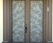 Custom Entrance Door 13 - by Isaac's Ironworks 818-982-1955