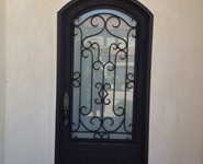 Custom Entrance Door 15 - by Isaac's Ironworks 818-982-1955