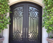 Custom Entrance Door 18 - by Isaac's Ironworks 818-982-1955