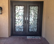 Custom Entrance Door 22 - by Isaac's Ironworks 818-982-1955