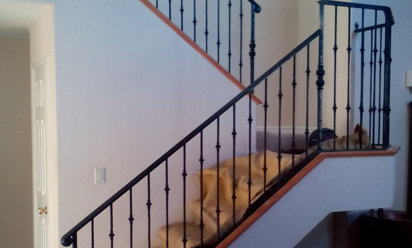Custom Interior Railing Fabrication and Installation - AFTER